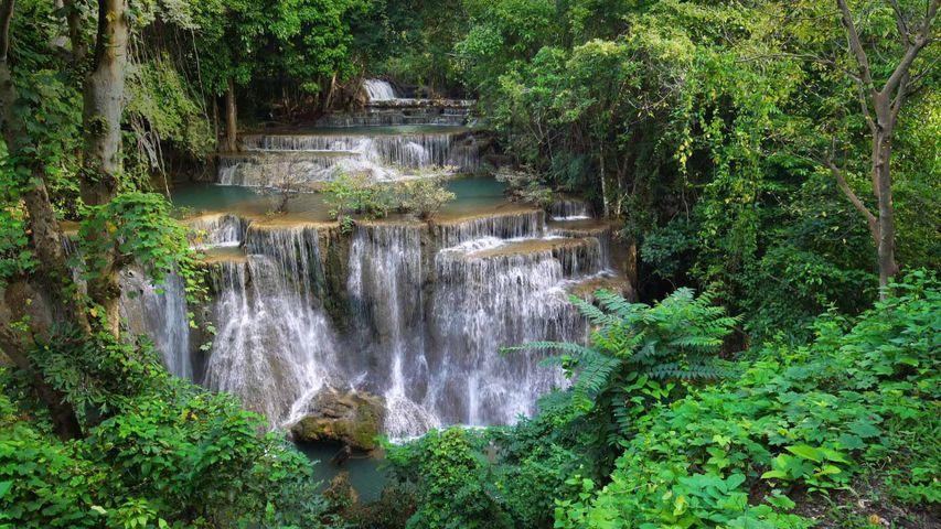 「フアイ・メー・カミン滝」タイ, カンチャナブリー