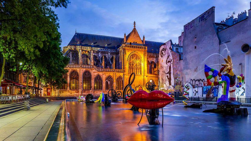 「ストラヴィンスキー噴水」パリ, フランス