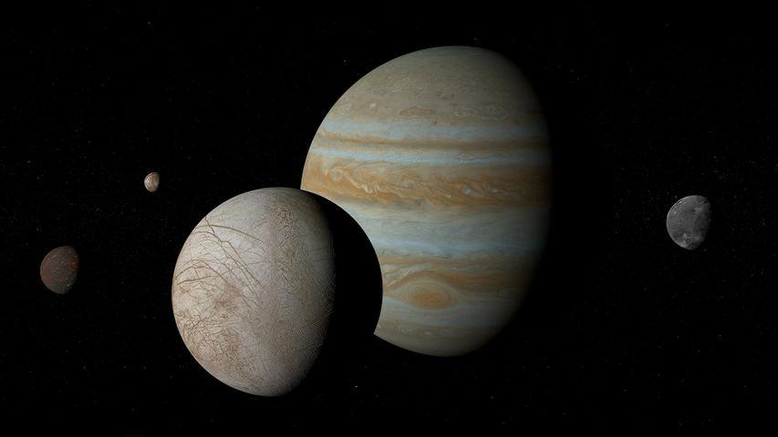 「木星とガリレオ衛星」