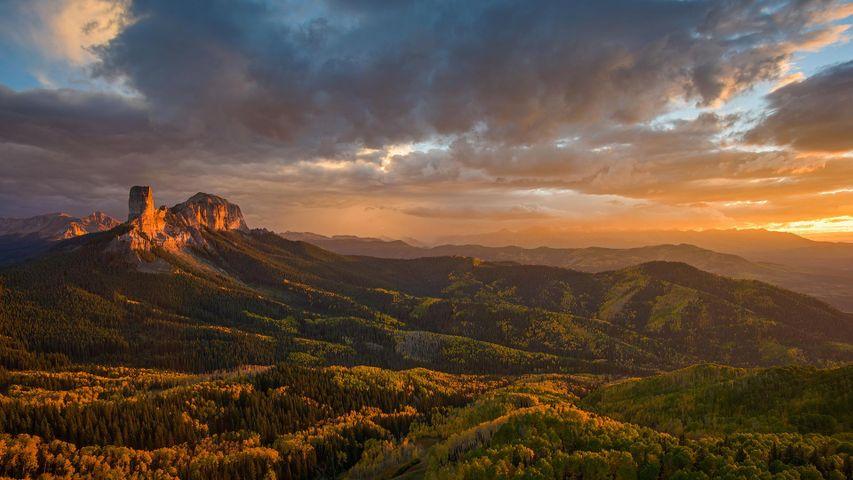 「チムニーロック国立史跡」米国, ネブラスカ州