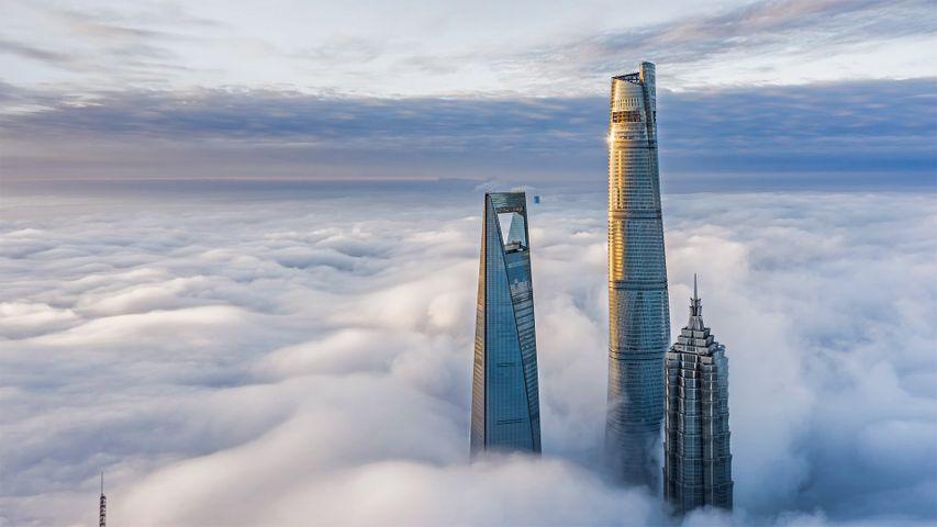 「陸家嘴の摩天楼」中国, 上海