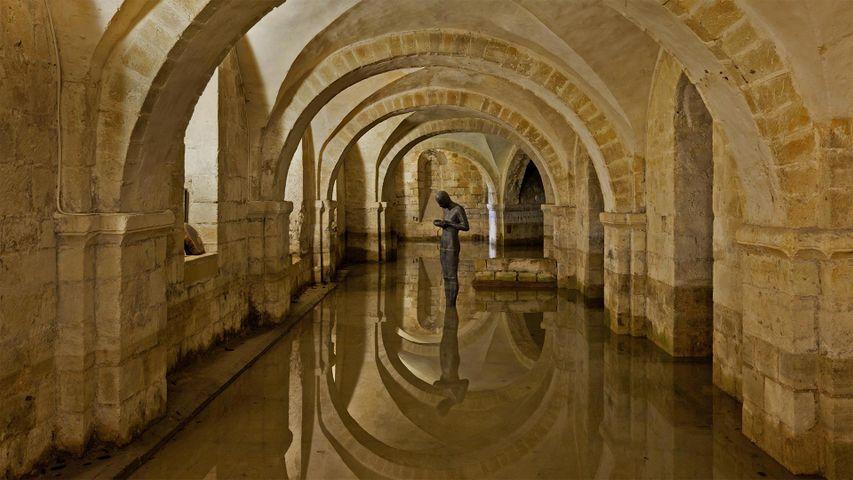 「ウィンチェスター大聖堂の地下室」イギリス, ハンプシャー