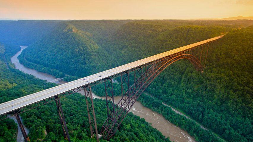 「ニュー川渓谷橋」米国, ウェストバージニア州
