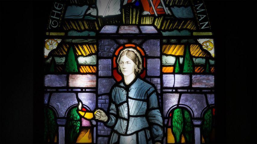 「フローレンス・ナイチンゲール博物館のステンドグラス」イギリス, ロンドン
