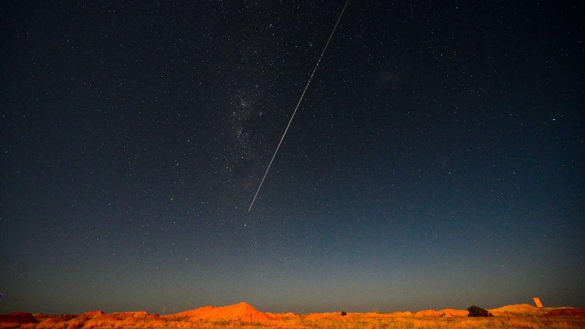 「はやぶさ 2 から切り離されたカプセル落下の瞬間」オーストラリア, ウーメラ