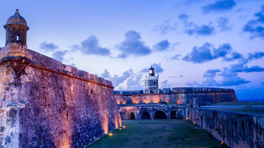 「エル・モロ要塞」米国プエルトリコ、ビエホ・サン・フアン
