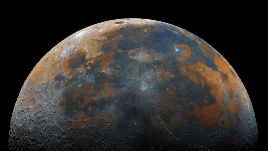 「月面の合成写真」