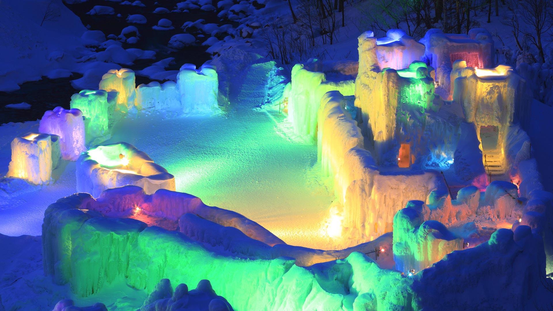 「層雲峡氷瀑まつり」北海道, 上川町