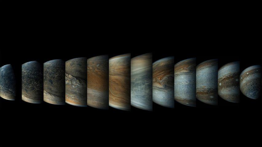 「ジュノー探査機木星接近の模様」