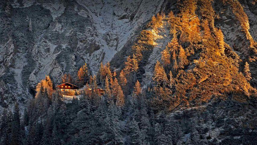 「ミッテンヴァルトの山小屋」ドイツ, バイエルン州