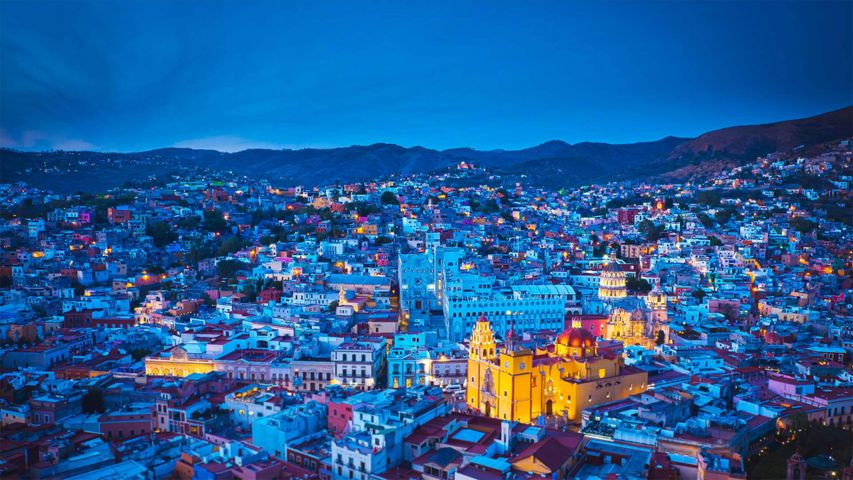 「グアナフアトの夜景」メキシコ