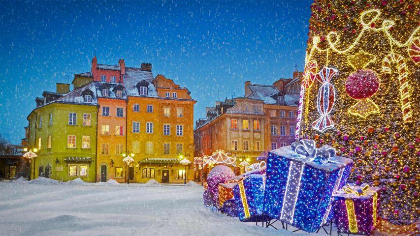 「クリスマス・イルミネーション」ポーランド, ワルシャワ