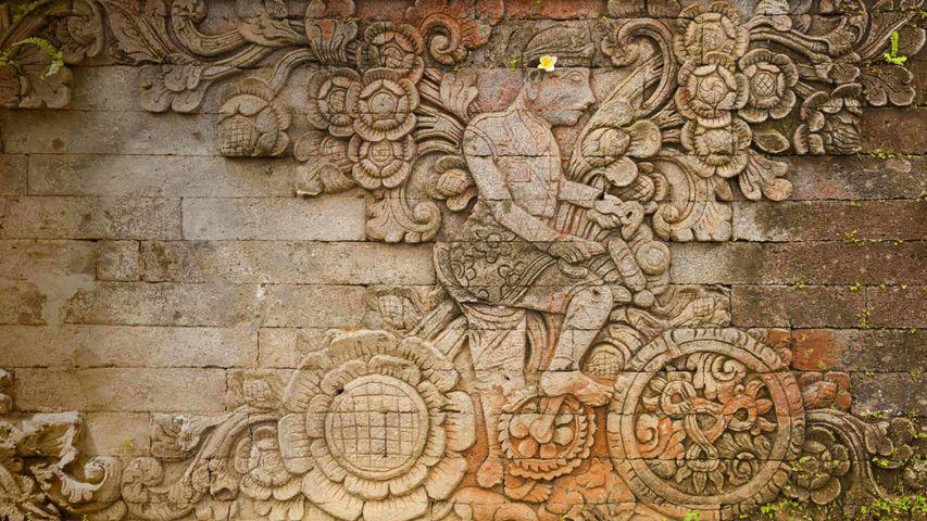 「マドゥイカラン寺院のレリーフ」インドネシア, バリ