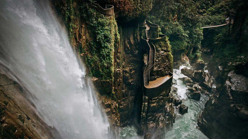 「アゴヤンの滝」エクアドル, パスタサ県