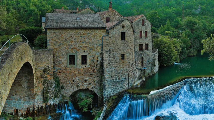 「ドゥルビ渓谷の製粉所」フランス, グラン・コース地域圏自然公園