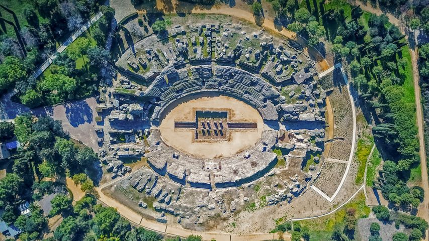 「イタリカ遺跡のローマ円形劇場」スペイン, サンティポンセ