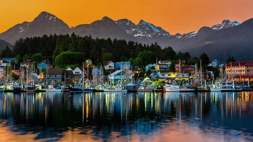 「シトカの港」米国アラスカ州