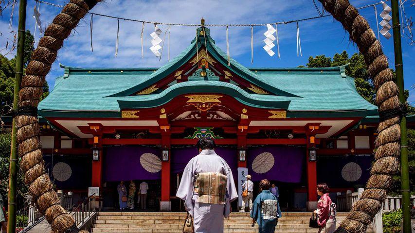 「日枝神社の茅の輪」東京, 永田町