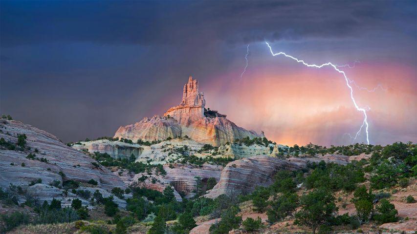 「チャーチロックと稲妻」米国, ニューメキシコ州