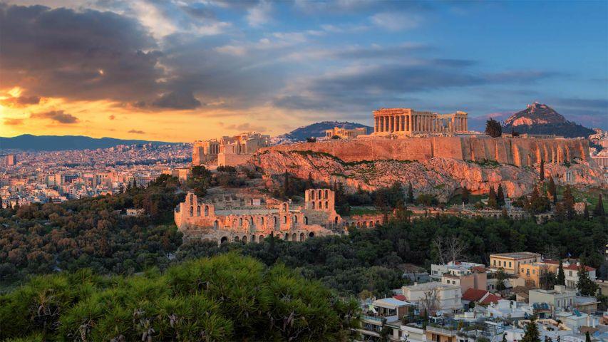 「パルテノン神殿」ギリシャ, アクロポリス