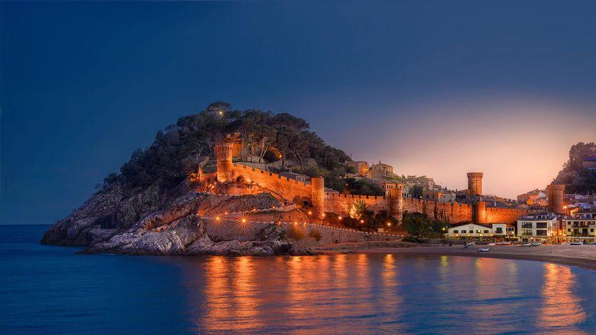 「トッサ デ マールの要塞」スペイン, カタルーニャ