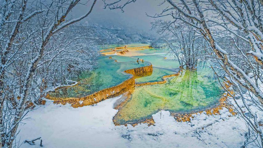 「黄龍風景区」中国, 四川省