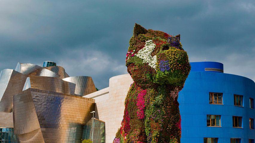 「ジェフ・クーンズのパピー」スペイン, ビルバオ・グッゲンハイム美術館