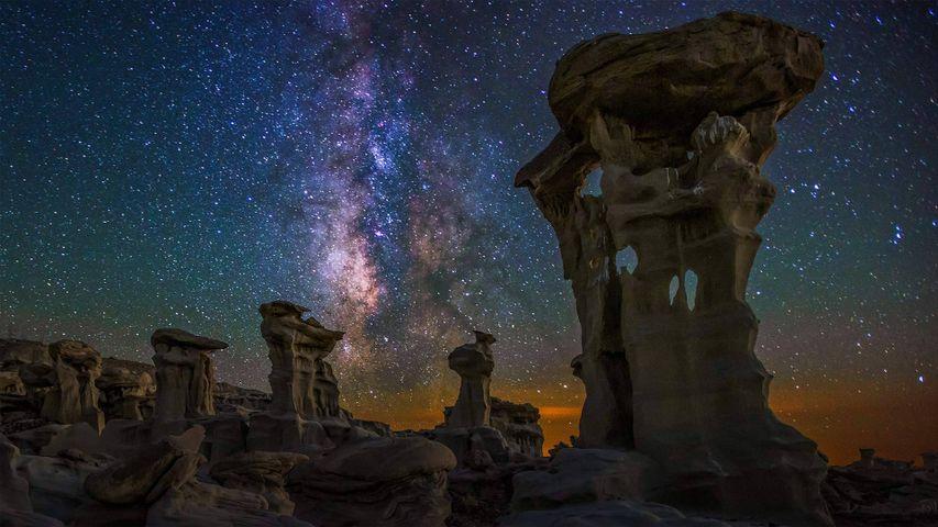 「ビスティ・デナジン荒野の銀河」米国ニューメキシコ州